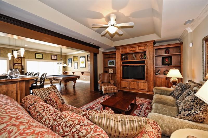 24 Finished Basements With Beautiful Hardwood Floors-15
