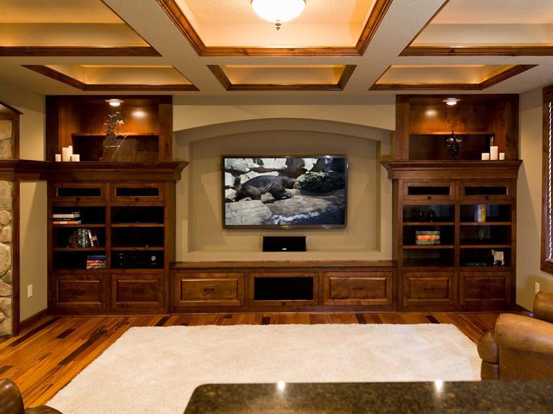 24 Finished Basements With Beautiful Hardwood Floors-18
