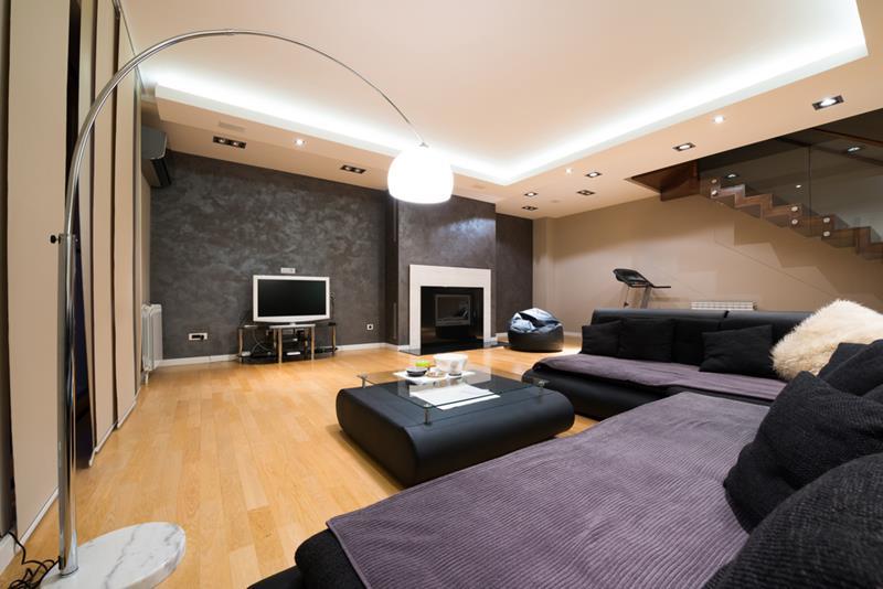 24 Finished Basements With Beautiful Hardwood Floors-5