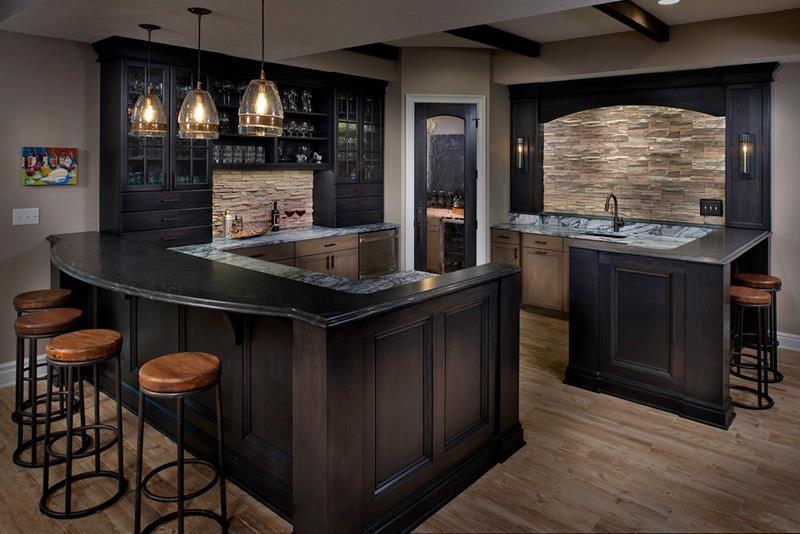 24 Finished Basements With Beautiful Hardwood Floors-8