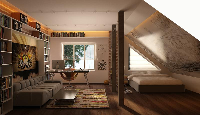 26 Amazing and Inspirational Finished Attic Designs-10