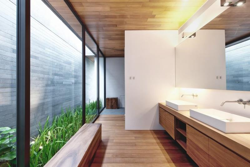 26 Beautiful Wood Master Bathroom Designs-14