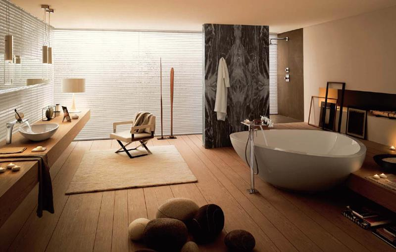 26 Beautiful Wood Master Bathroom Designs-17