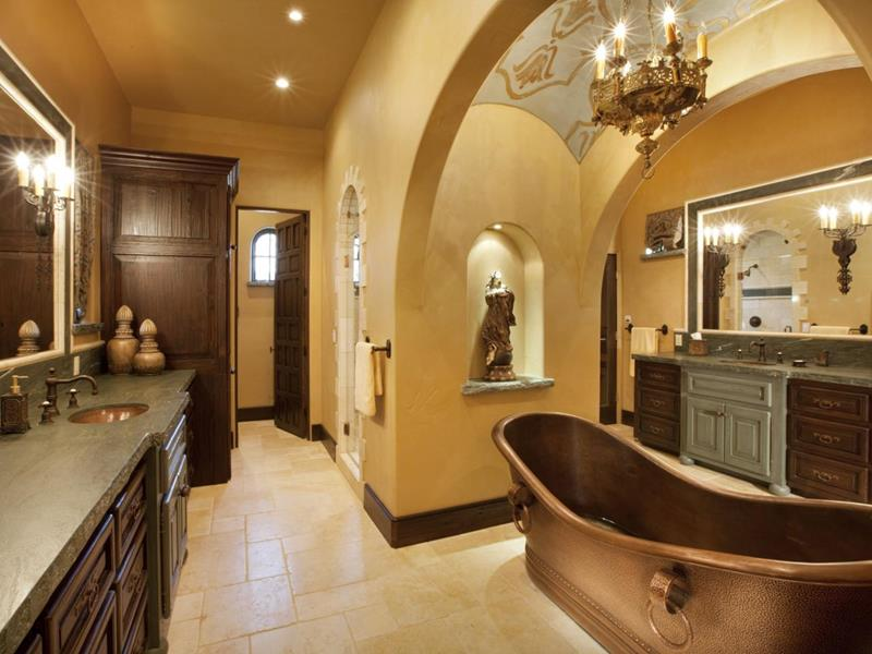 26 Beautiful Wood Master Bathroom Designs-23