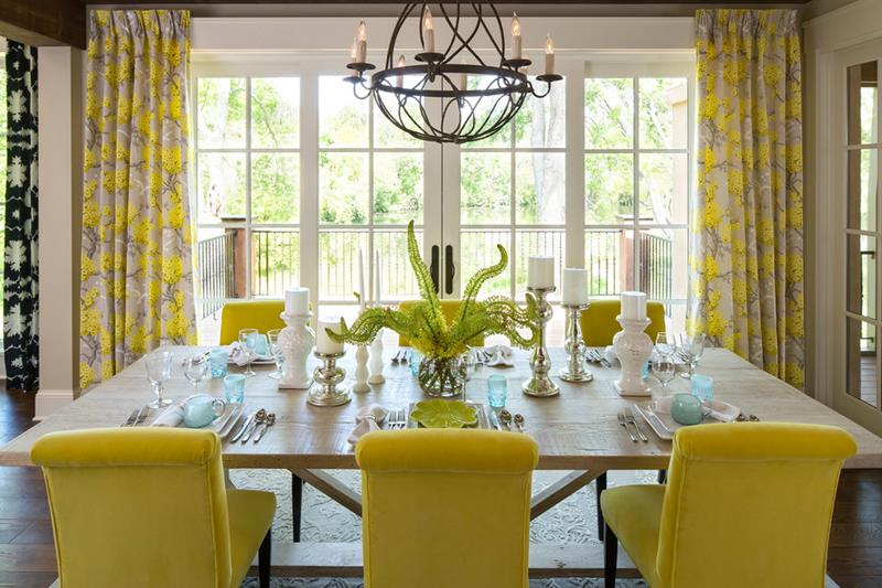 26 Beautiful and Bright Dining Room Designs-1