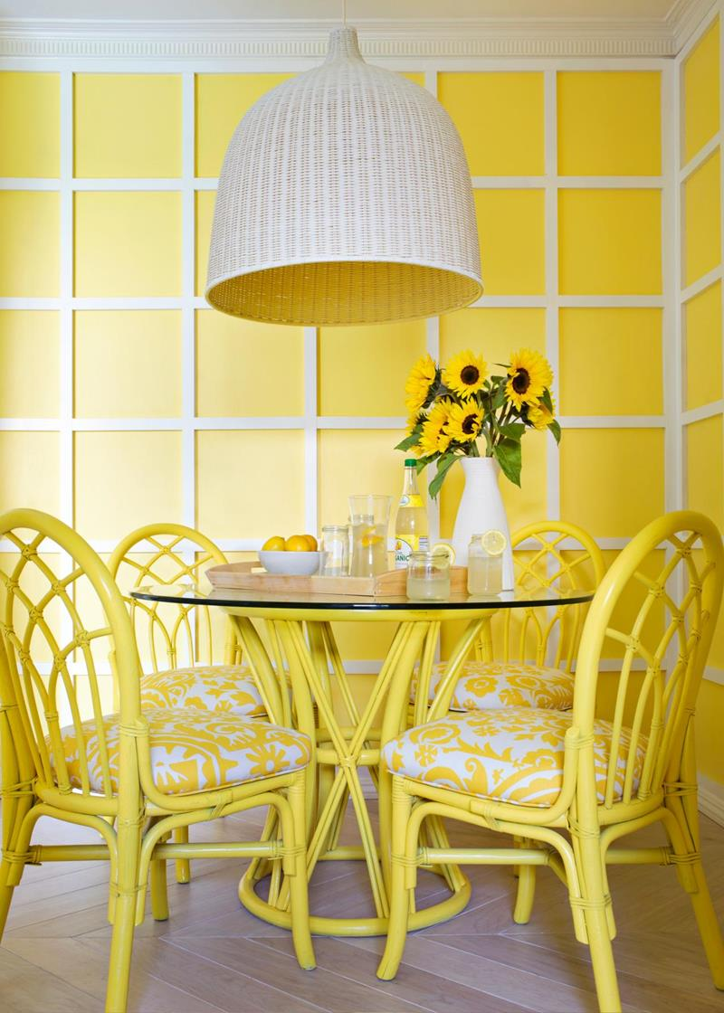 26 Beautiful and Bright Dining Room Designs-19