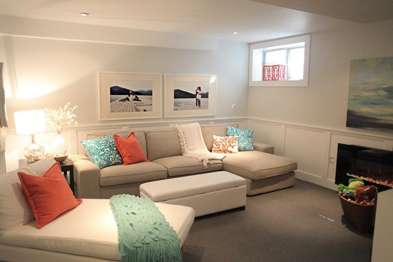 26 Charming and Bright Finished Basement Designs-3