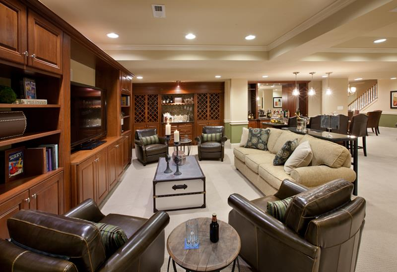 27 Luxury Finished Basement Designs-1