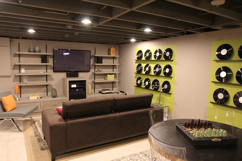27 Luxury Finished Basement Designs-13