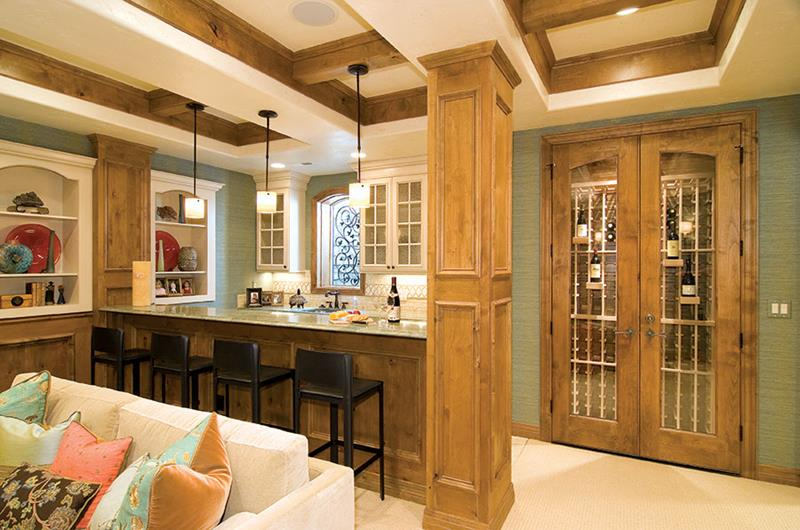 27 Luxury Finished Basement Designs-16