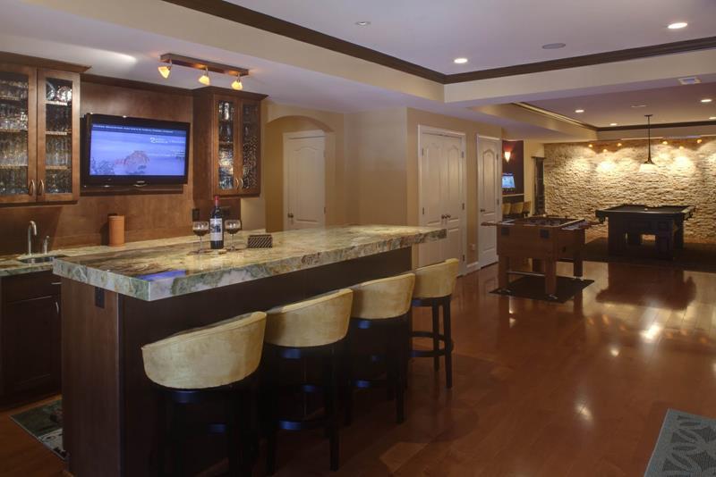 27 Luxury Finished Basement Designs-2
