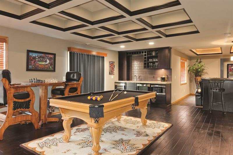 27 Luxury Finished Basement Designs-21