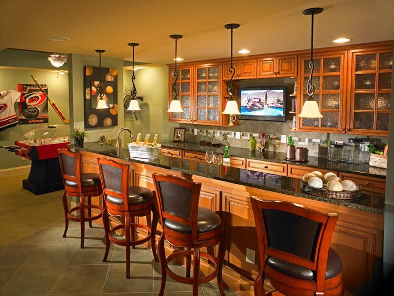 27 Luxury Finished Basement Designs-26