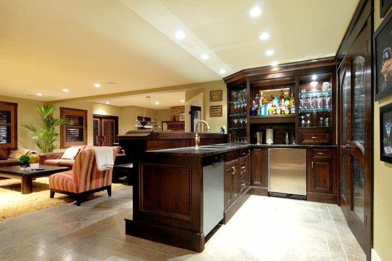 27 Luxury Finished Basement Designs-3