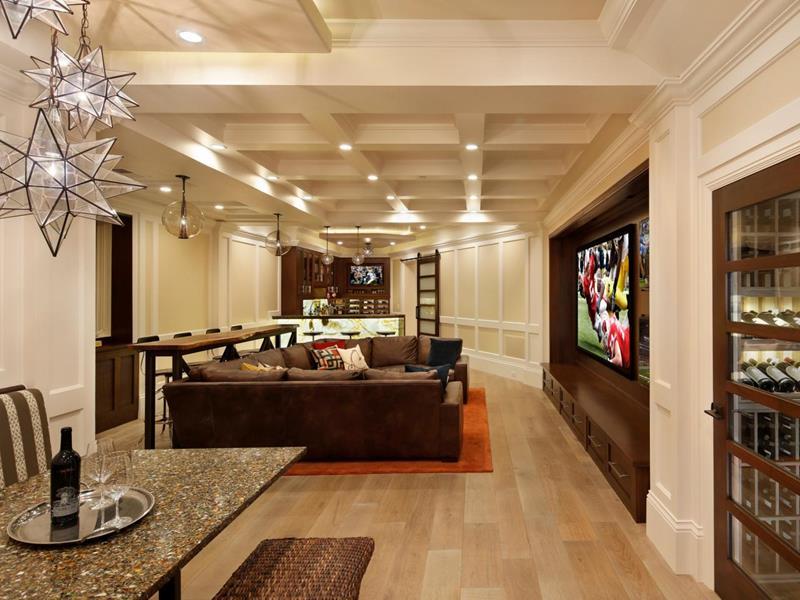 27 Luxury Finished Basement Designs-5