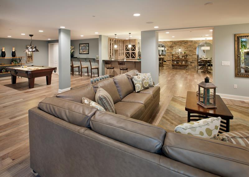 27 Luxury Finished Basement Designs-8
