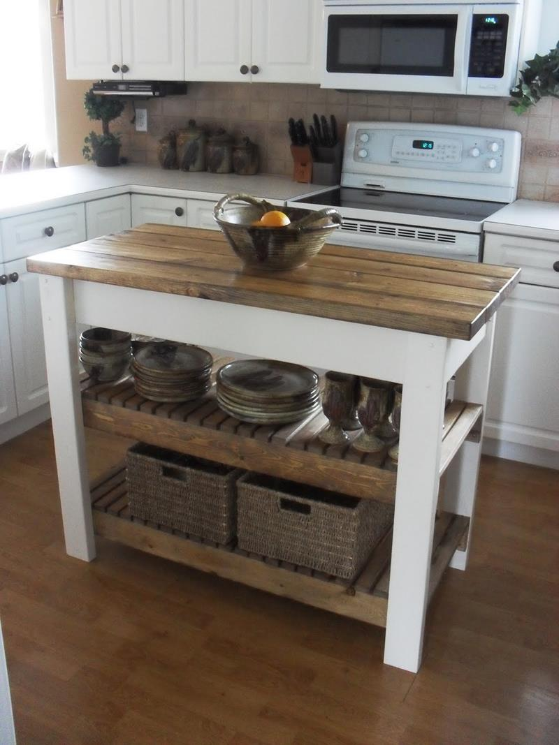 51 Awesome Small Kitchen With Island Designs-11
