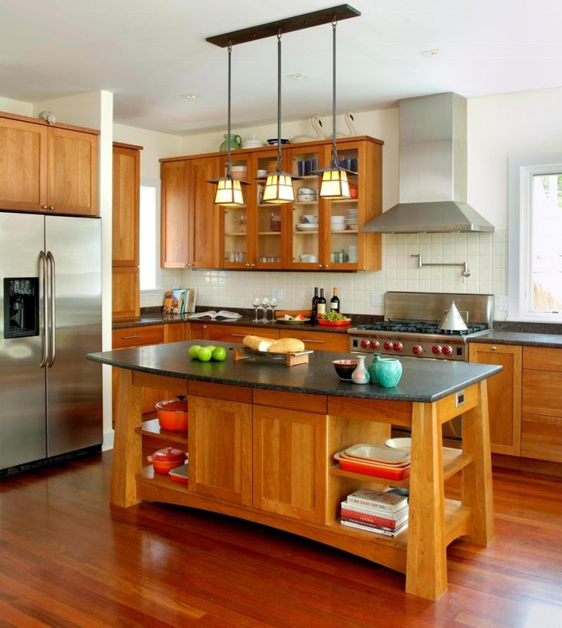 51 Awesome Small Kitchen With Island Designs-26