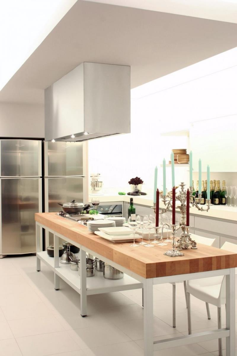 51 Awesome Small Kitchen With Island Designs-29