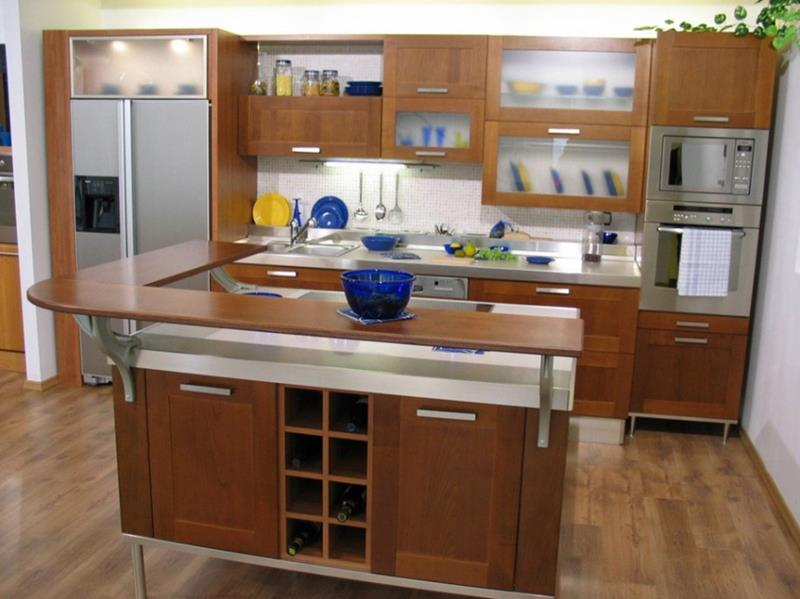 51 Awesome Small Kitchen With Island Designs-3