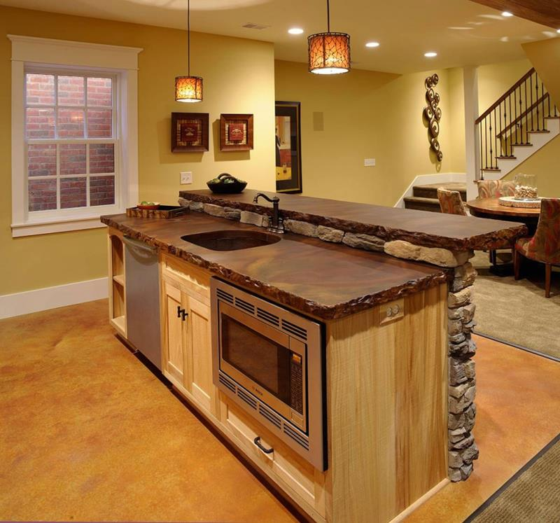 51 Awesome Small Kitchen With Island Designs-35