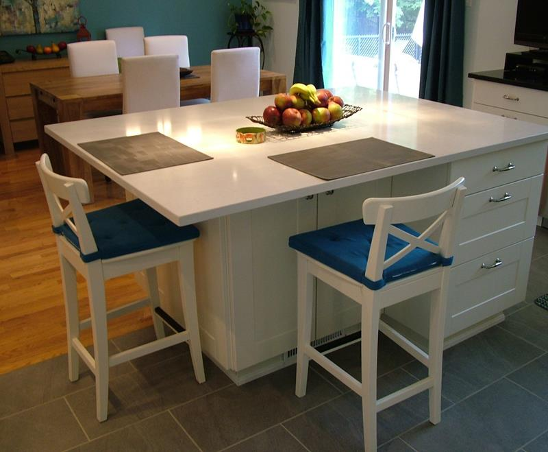 51 Awesome Small Kitchen With Island Designs-40