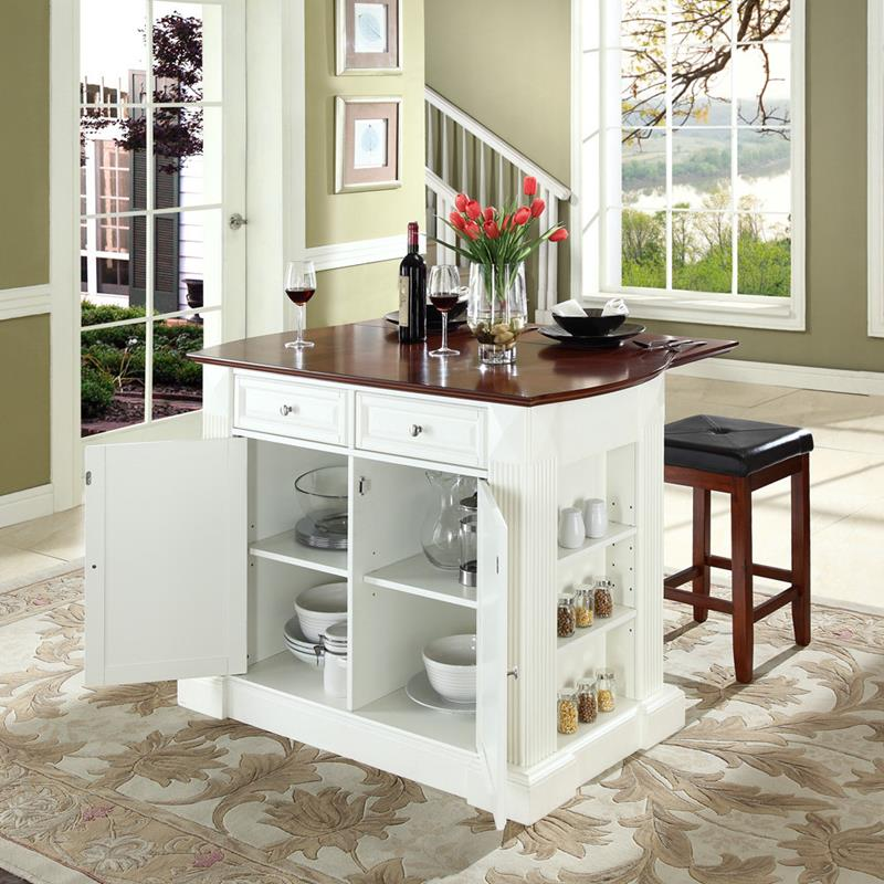 51 Awesome Small Kitchen With Island Designs-43