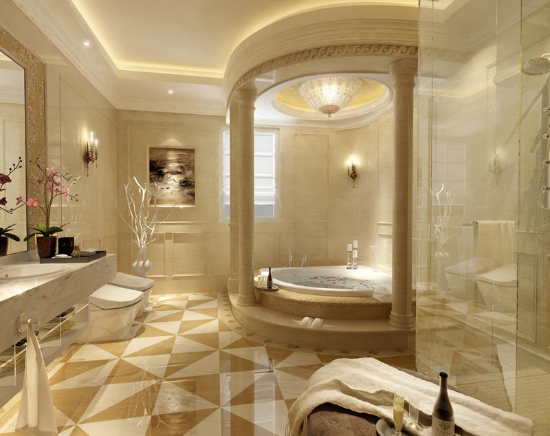 55 Amazing Luxury Bathroom Designs-3