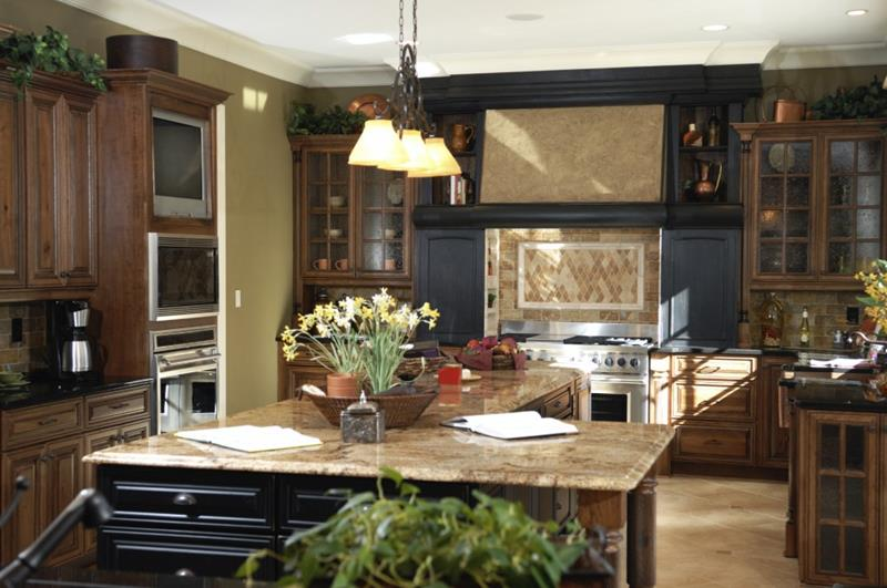 20 Beautiful Kitchens with Dark Kitchen Cabinets Design-10