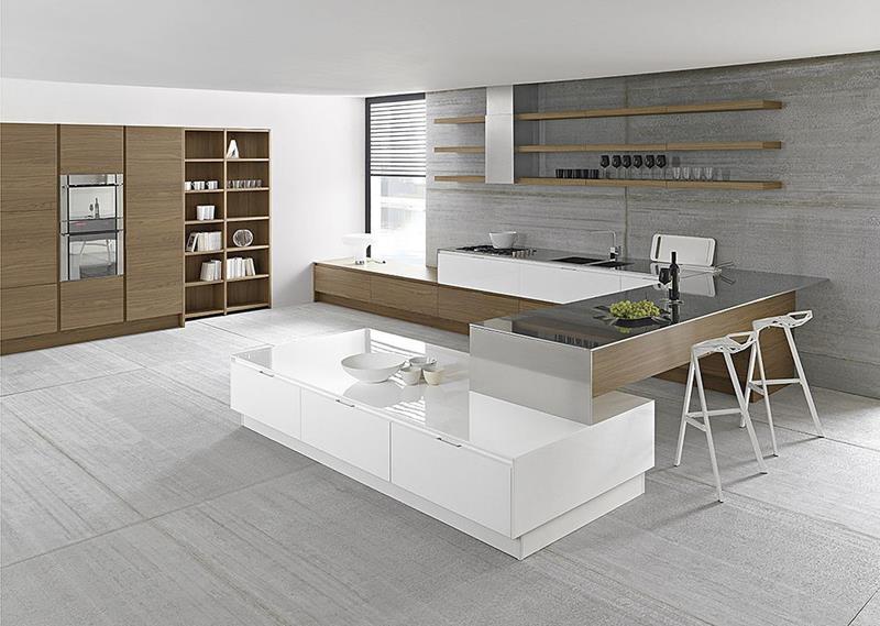55 Luxury Contemporary Kitchen Designs-13