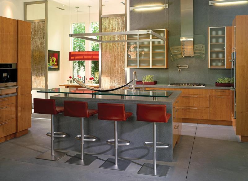 55 Luxury Contemporary Kitchen Designs-49