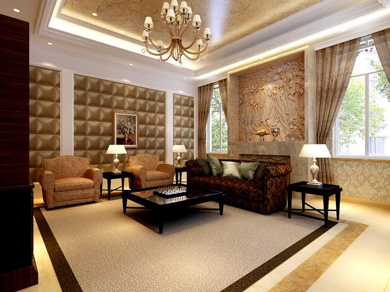 68 Interior Designs For Grand Living Rooms-24