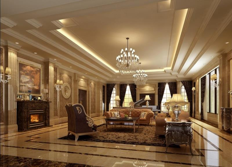 68 Interior Designs For Grand Living Rooms-56