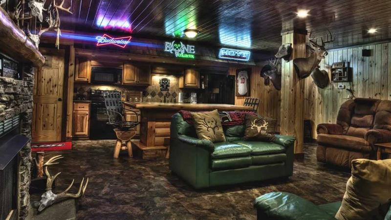 70 Awesome Man Caves In Finished Basements And Elsewhere-12