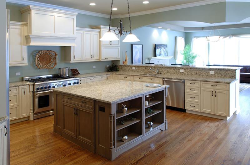 72 Luxurious Custom Kitchen Island Designs-20