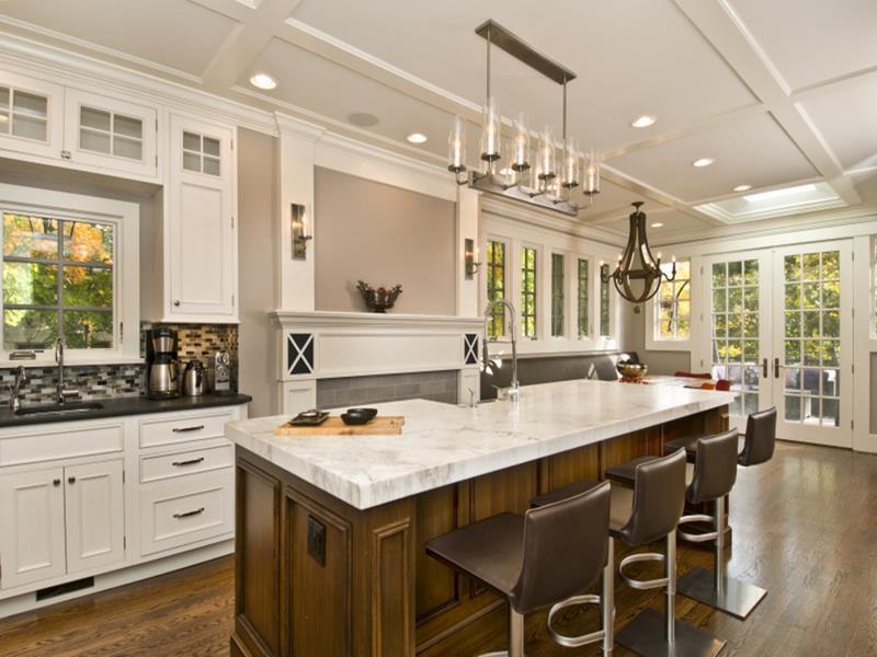 72 Luxurious Custom Kitchen Island Designs-24