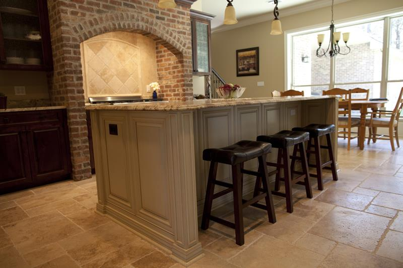 72 Luxurious Custom Kitchen Island Designs-26