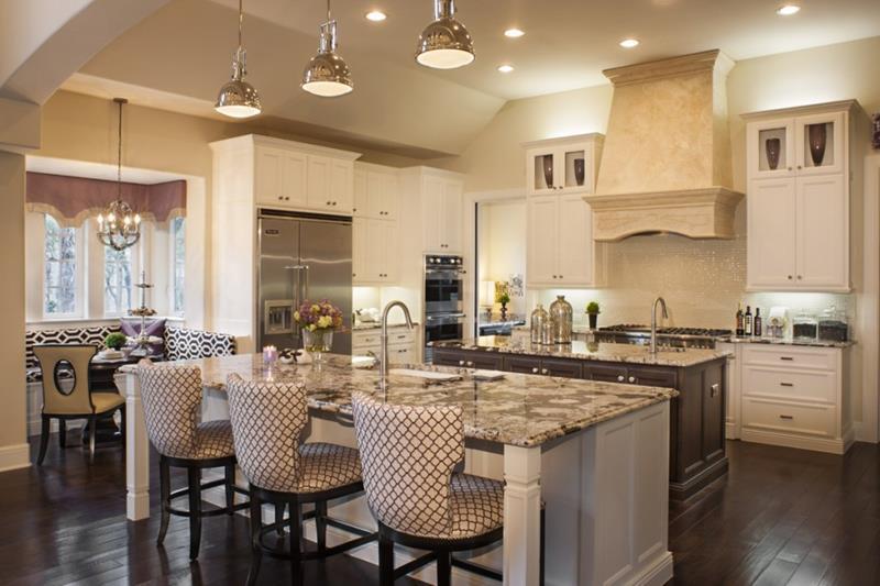 72 Luxurious Custom Kitchen Island Designs-27