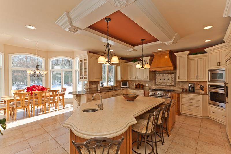 72 Luxurious Custom Kitchen Island Designs-28