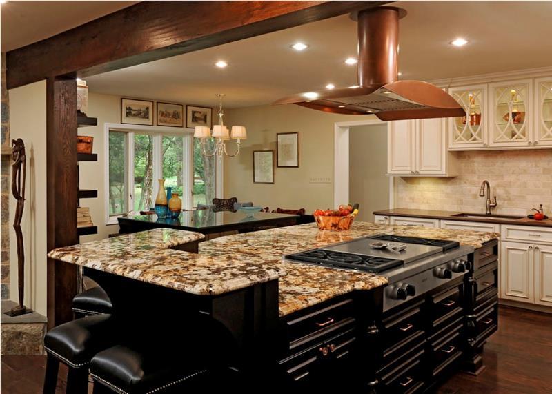 72 Luxurious Custom Kitchen Island Designs-30