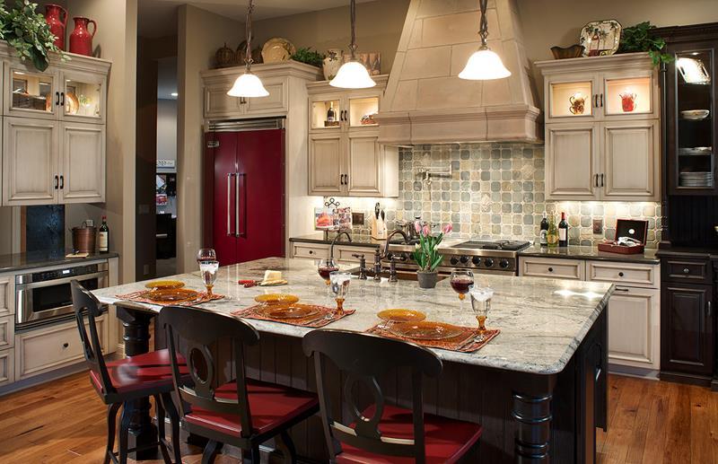 72 Luxurious Custom Kitchen Island Designs-32