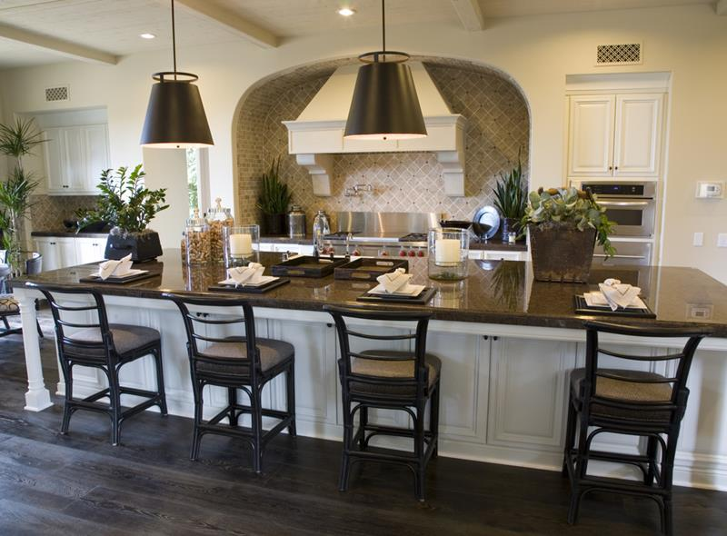 72 Luxurious Custom Kitchen Island Designs-48