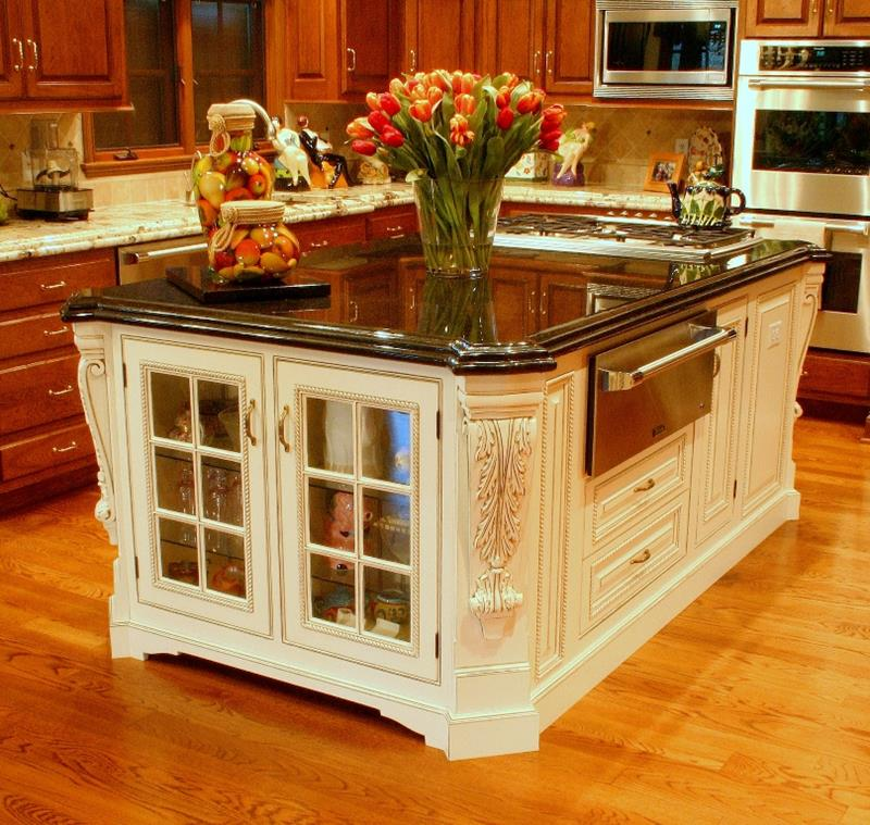 72 Luxurious Custom Kitchen Island Designs-49