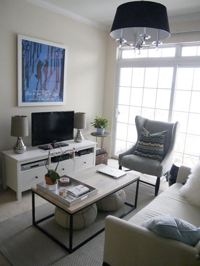 18 Pictures With Ideas for the Layout of Small Living Rooms-1