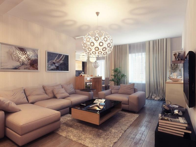 18 Pictures With Ideas for the Layout of Small Living Rooms-12