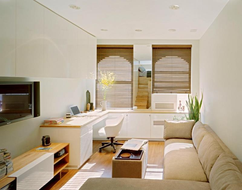 18 Pictures With Ideas for the Layout of Small Living Rooms-2