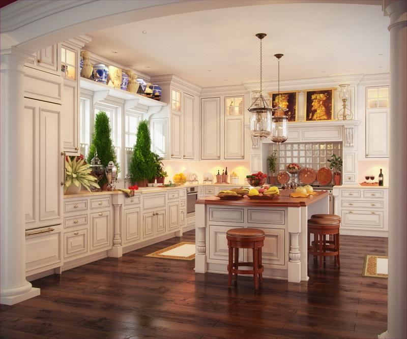 22 Stunning Kitchen Designs With White Cabinets-15