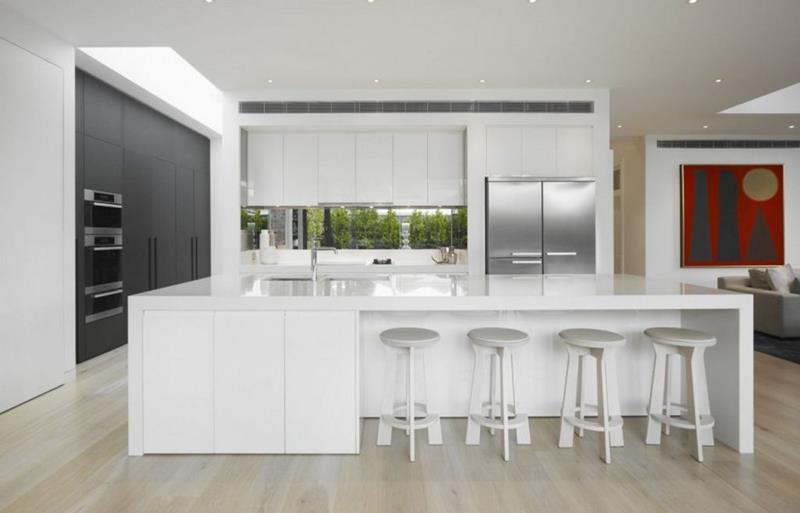 22 Stunning Kitchen Designs With White Cabinets-18