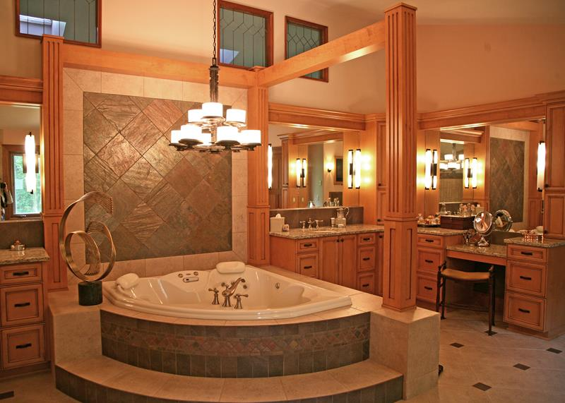 24 Luxury Master Bathrooms With Soaking Tubs-12