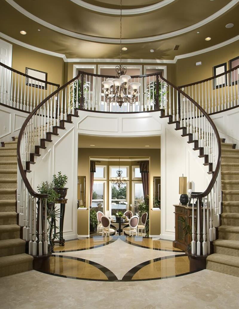 56 Beautiful And Luxurious Foyer Designs-16
